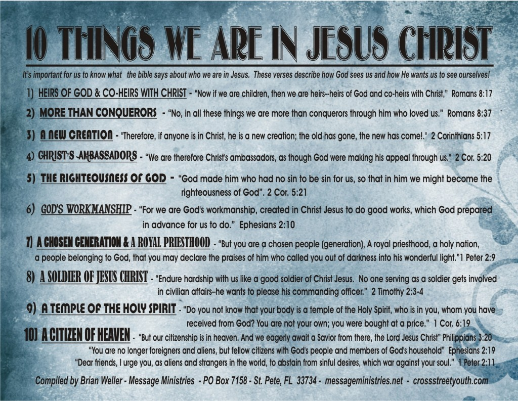 10 Things We Are In Jesus Christ