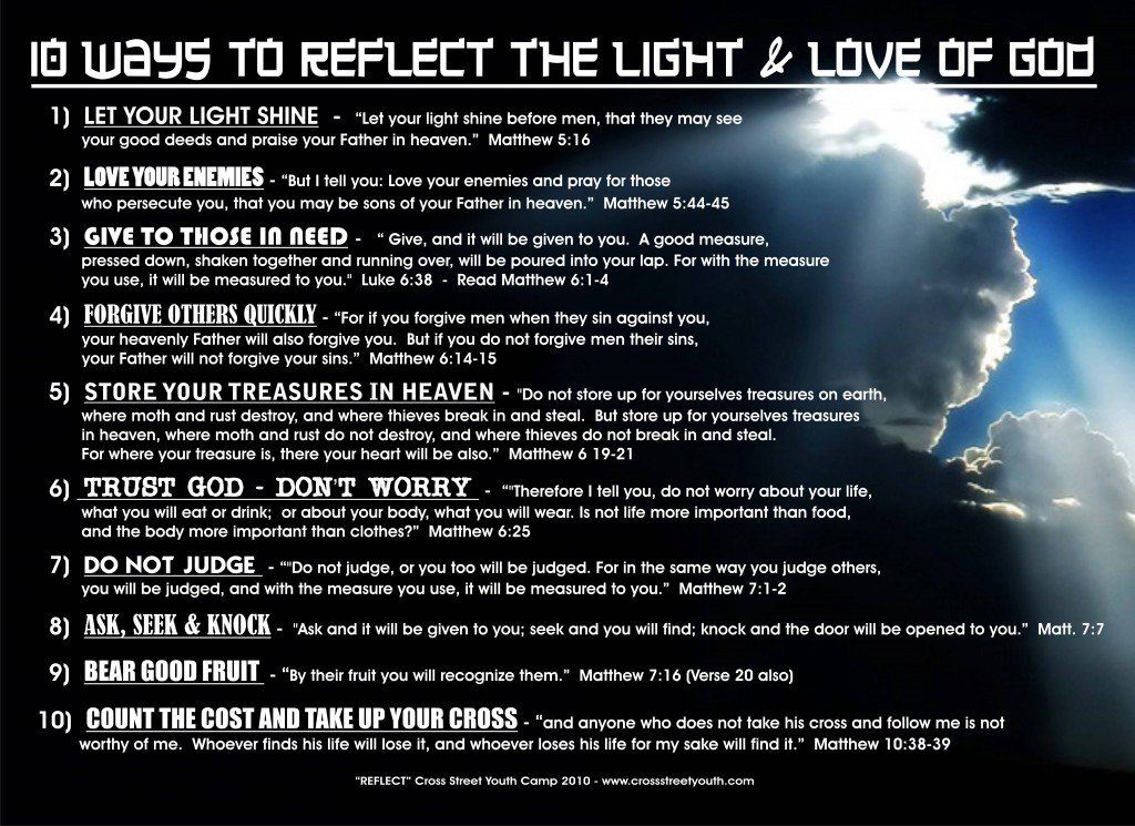 10 Ways to REFLECT THE LIGHT OF The Lord
